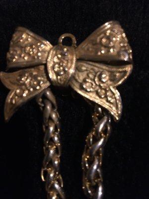 Złote kolczyki złoto-w kolorze białej wełny