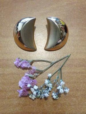 Vintage Clip d'oreille doré métal