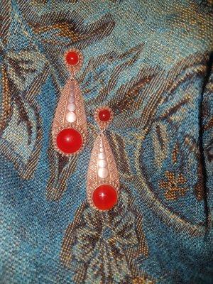 Vintage Boucles d'oreilles en argent multicolore