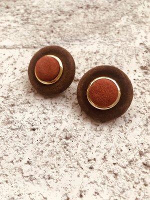 True Vintage Earclip cognac-coloured-brown