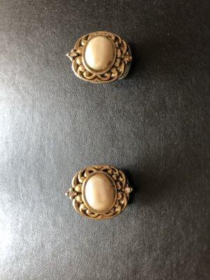 "VINTAGE Ohrringe - Modeschmuck - ""Perlen - Gold - Diamanten"" - perfekt zu Trachten"