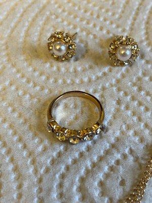 Vintage Ohrringe vintage Ring gr 16/54