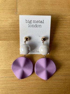Big Metal London Statement Earrings multicolored