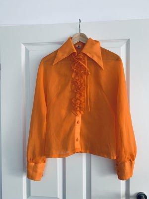 True Vintage Blusa alla Carmen arancio neon Poliestere