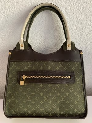 Louis Vuitton Handbag olive green-taupe leather