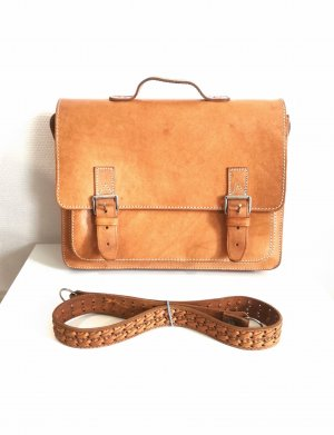 Satchel multicolored leather