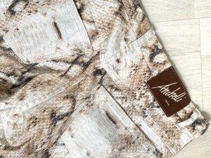 Absolu Paris Pantalone a vita alta multicolore Cotone