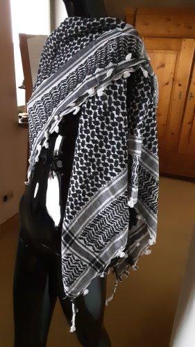 vintage, Original Tuch aus Palästina. schwarz weiß gemustert.
