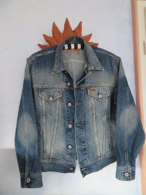 Vintage Oversize Blaue Jeansjacke - S M L - Verwaschen Denim Jacke