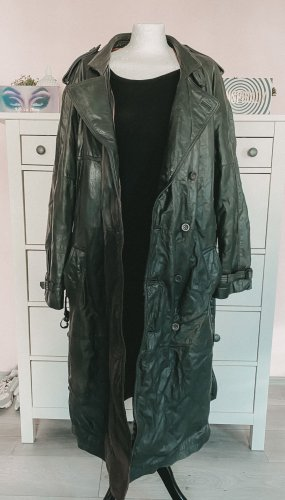 Vintage Leather Coat black-anthracite leather