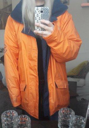 Jeantex Kurtka outdoor pomarańczowy-ciemnoniebieski