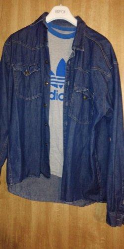 Camisa vaquera azul-azul acero