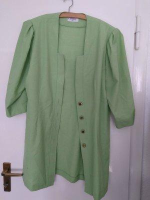 Vintage oversize Longbluse grasgrün M