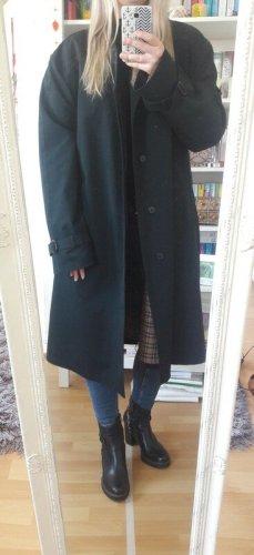 Vintage Manteau oversized noir-brun