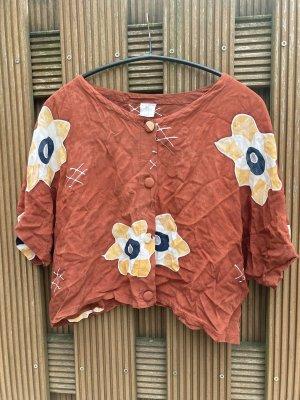 True Vintage Shirt met korte mouwen donkerrood-wit