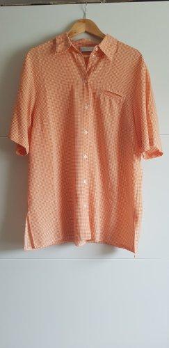 Ulla Popken Robe chemise blanc-orange clair