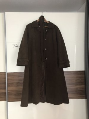 Vintage Oversized jas donkerbruin-zwart bruin