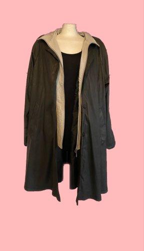 Vintage Abrigo ancho negro-color plata