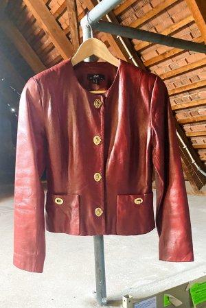 Vintage oxblood Leder Jacke