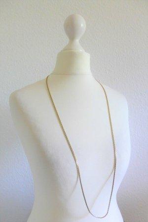 Vintage Panzer Halskette silber gold lang 80er 80s Eigthies