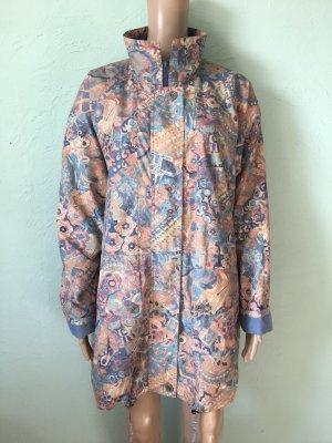 Vintage Oversized jas nude-korenblauw