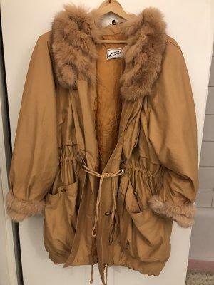 colette Manteau de fourrure chameau