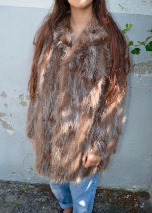 Vintage Manteau de fourrure multicolore