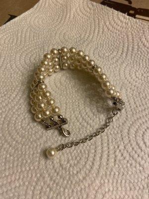 Bracelet blanc-argenté