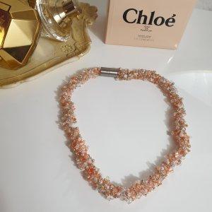 vintage Perlen Halskette mit Magndtverschluss