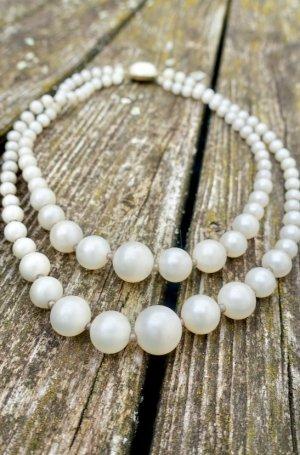 Vintage Perlenkette 1940er Jahre
