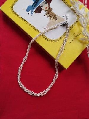 Vintage Pearl Necklace white-cream
