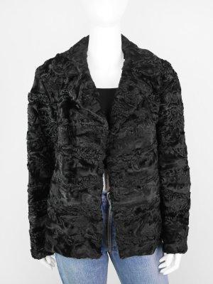 Veste en fourrure noir pelage