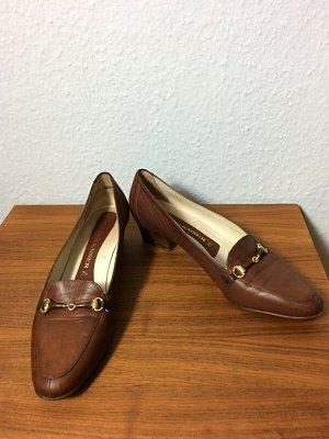 Vintage Peter Kaiser Horsebit Loafers karamell Gr. 7,5 / Gr. 41