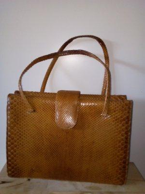 ♥Vintage♥ Phytonleder Tasche 70er Jahre Leder Handtasche !Letzte Reduzierung!