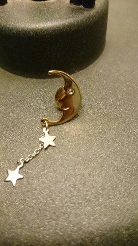 Bouton argenté-doré métal