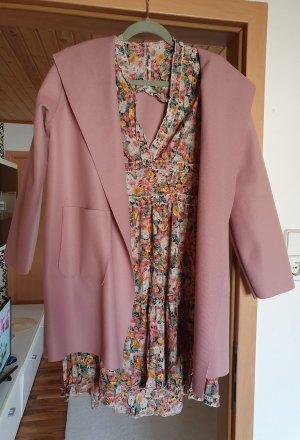 alternative vintage soft Giacca mezza stagione color oro rosa