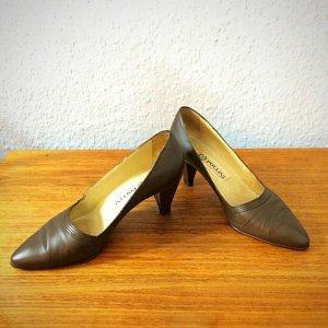 Vintage Pollini Designer Pumps braun Leder Gr. 35