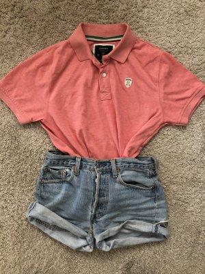 Polo shirt zalm