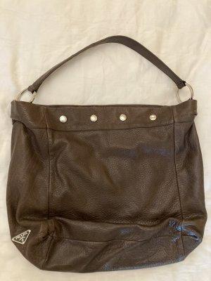 Vintage Prada Tasche in Dunkelbraun