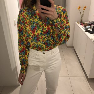 Vintage Printemps Bluse Made in France mit Blumenmuster bunt