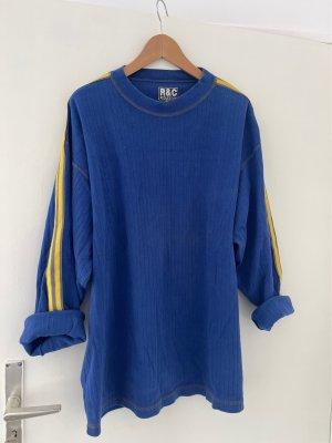 True Vintage Oversized Sweater blue-yellow