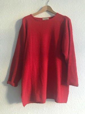 Vintage Maglione oversize rosso-rosso mattone