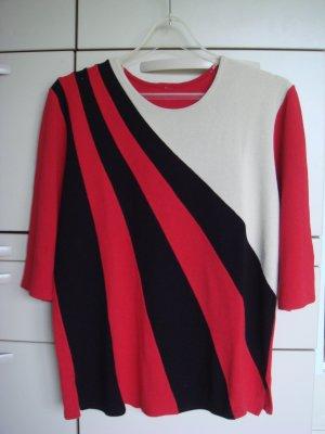 Vintage - Pulli Pullover 3 Farben Gr. 40/42 rot schwarz creme