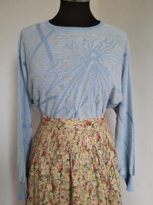 Vintage Pull en laine multicolore