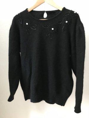 Wełniany sweter czarny