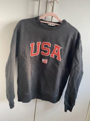 America Today Suéter azul oscuro-rojo ladrillo