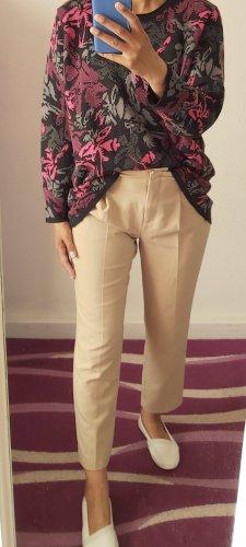 Vintage Oversized Sweater grey-neon pink