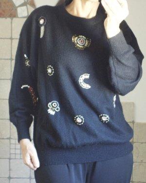 Oversized trui zwart Acryl