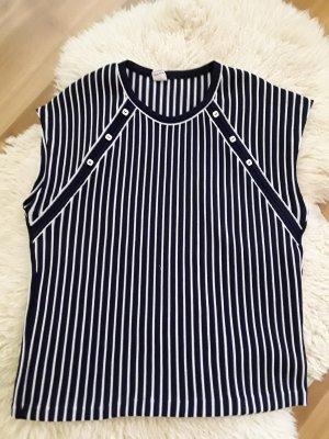 Jersey de manga corta blanco-azul