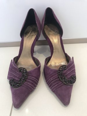 Bourne Pointed Toe Pumps violet leather